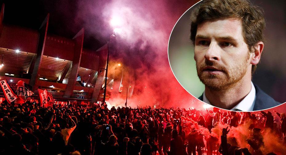 """TV: Villas-Boas kritik mot PSG-fansens samling: """"En skandal"""""""