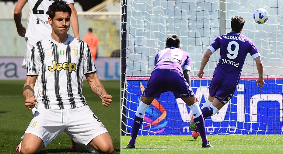 """TV: Nyss missräkning för Juventus - Morata räddade poäng efter Vlahovics """"Panenka-straff"""""""