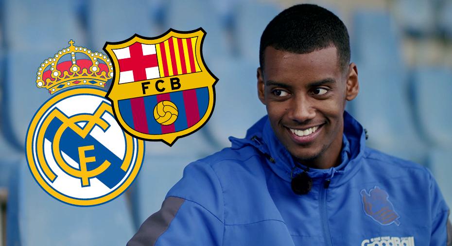 """TV: Frågan Alexander Isak vägrar svara på: Real eller Barca? """"Den är farlig"""""""