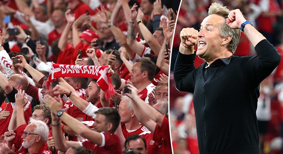 """Förbundskaptenen hyllar danska fansen: """"Ger oss vingar"""""""