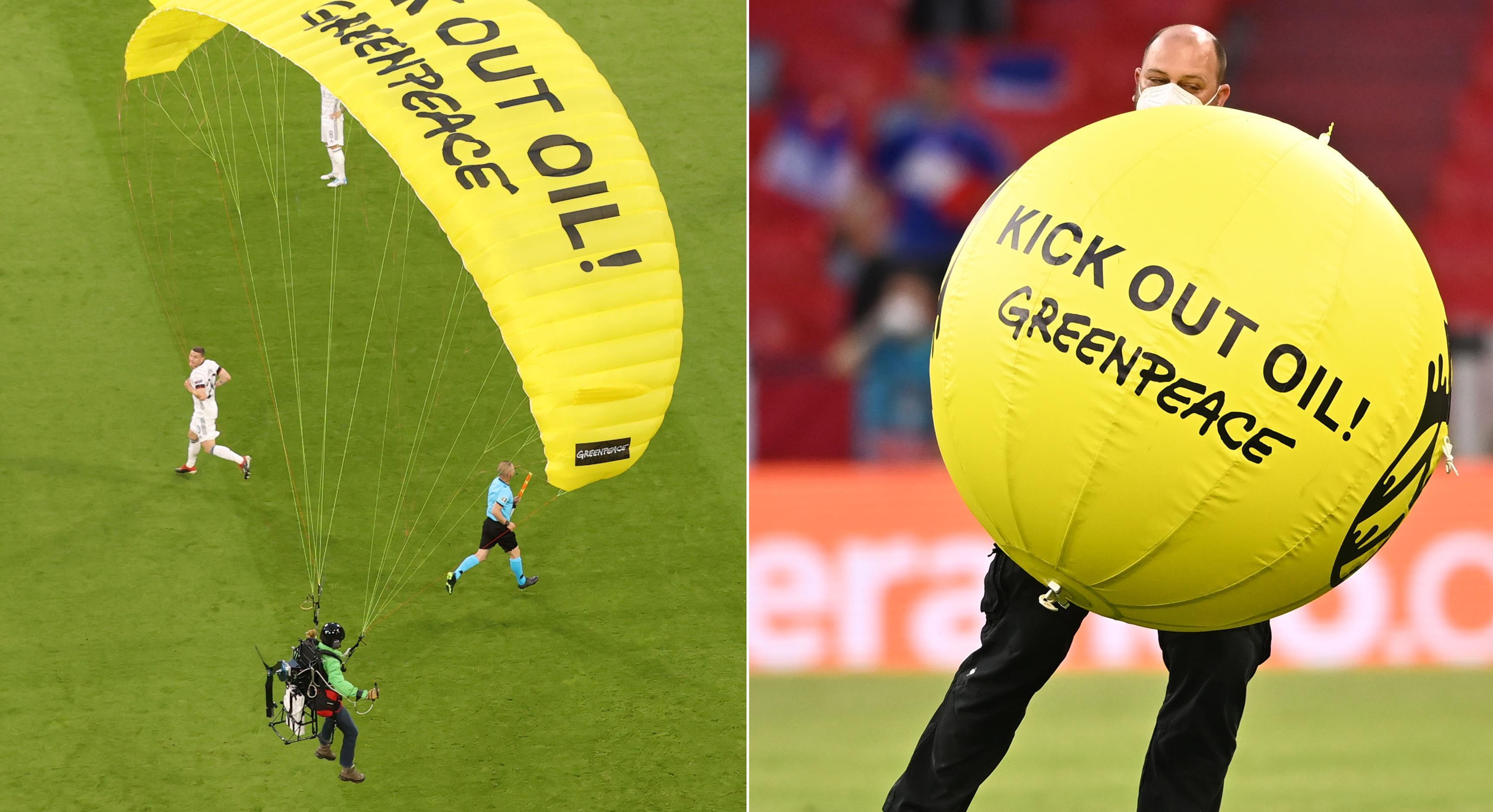 Greenpeace ber om ursäkt efter fallskärmsprotest
