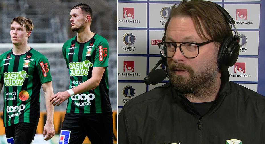 """TV: Varberg-tränaren efter förlusten: """"10-7 hade kanske varit rättvist - E6:an i vårt försvarsspel"""""""
