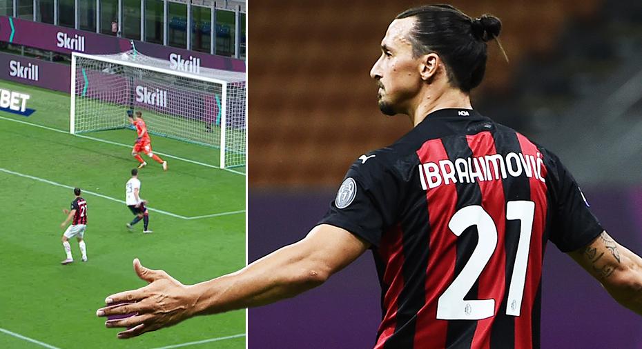TV: JUST NU: Ibrahimovic tar revansch efter missad straff - slår till med kanonmål mot Cagliari
