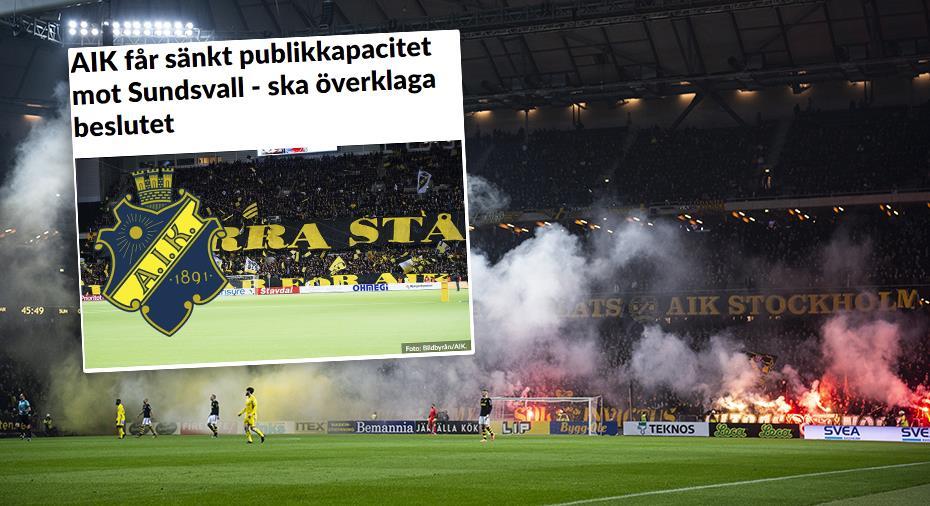 AIK:s bakslag - förvaltningsrätten ger polisen rätt