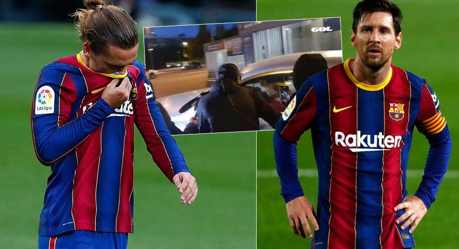 """TV: Barça-fans konfronterar Griezmann: """"Visa respekt för Messi"""""""