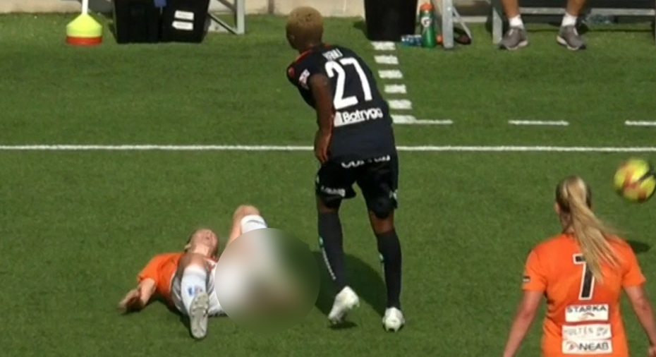 "Otäck skada på KDFF:s Mia Carlsson: ""Nej, nej, nej – det där är inte bra"""