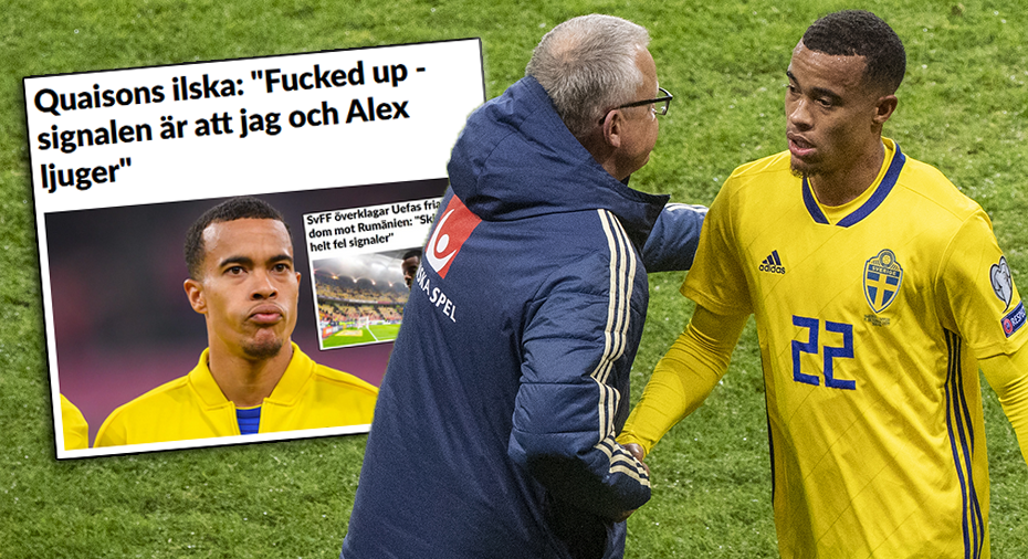 """Quaison stöttas av Janne Andersson - som kritiserar Uefa: """"Jättekonstigt"""""""