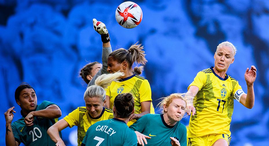 TV: Mållöst i Segers jubileumsmatch - Australien skrämde Sverige i OS-genrepet