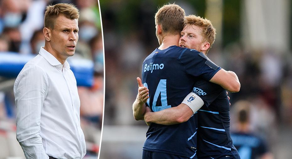"""HJK-tränarens besvikelse: """"Vi var mycket bättre än Malmö - alla stora domslut gick emot oss"""""""