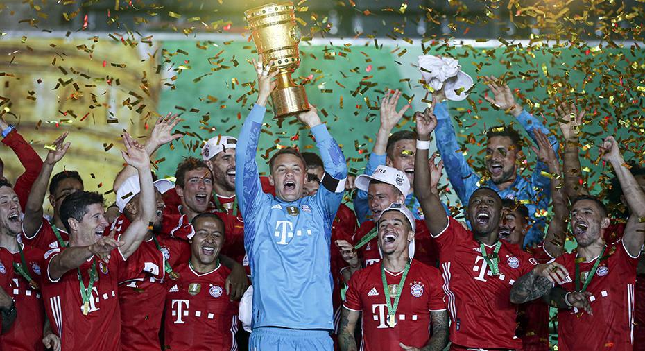 Bayern säkrade andra raka dubbeln - Lewandowski tvåmålsskytt mot Leverkusen