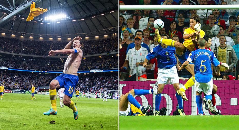 TV: Se några av Zlatans snyggaste landslagsmål
