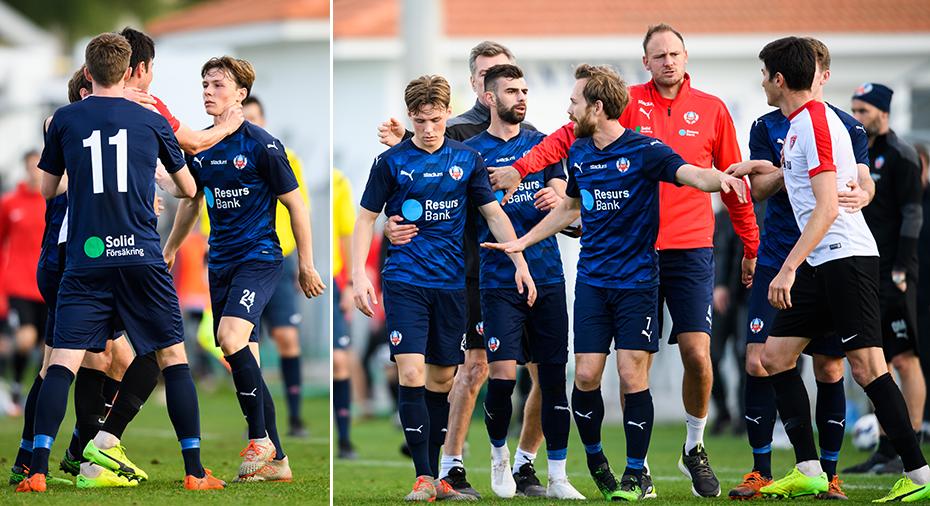 Kalabalik i HIF:s match på Cypern - Granqvist klev in på planen efter strupgrepp