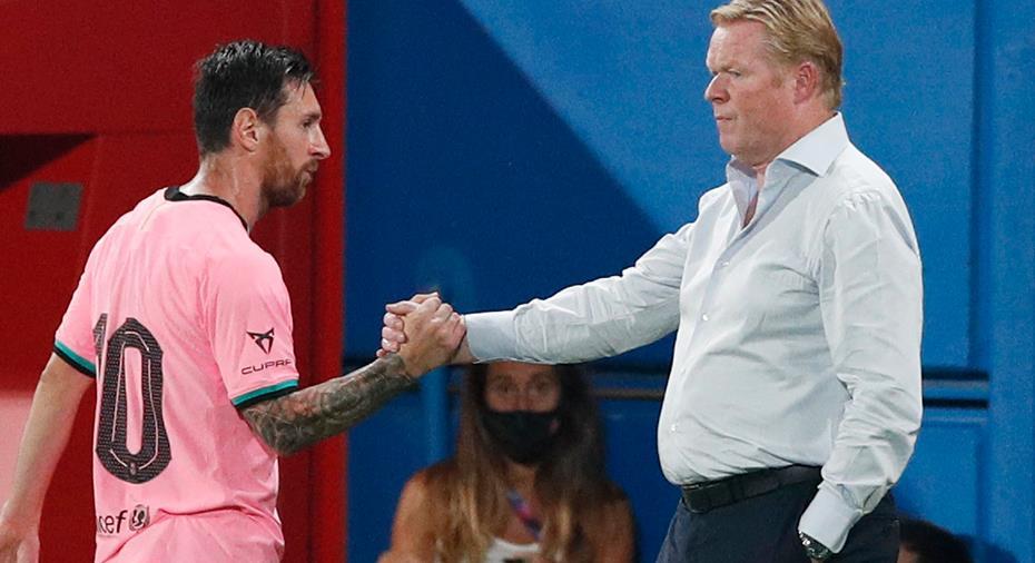 """Koeman slår tillbaka mot kritiken: """"Barça är ett bättre lag med Messi"""""""