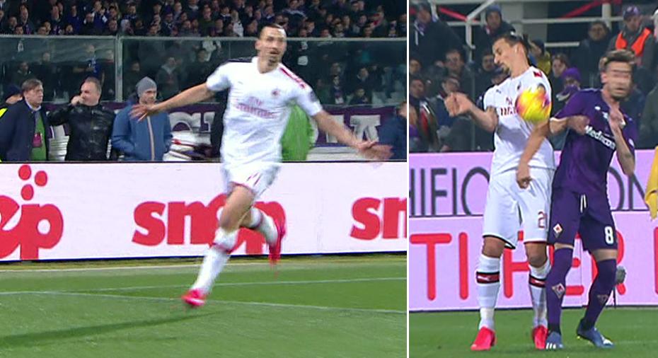 TV JUST NU: Zlatan slår till mot Fiorentina - men målet bortdömt