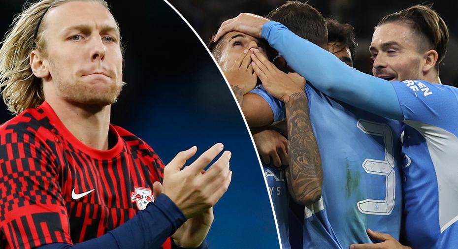 TV: Tungt för Forsberg och Leipzig - släppte in sex mål mot Man City