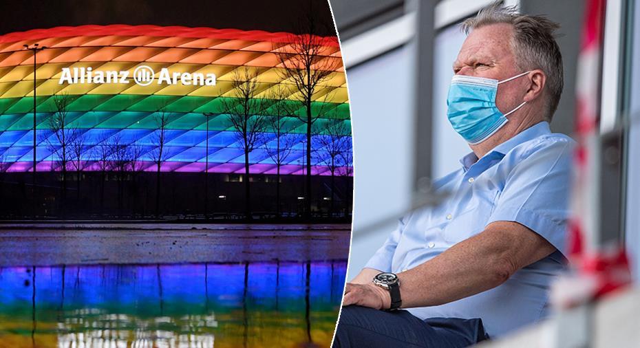 Karl-Erik Nilsson ställer sig bakom Ceferin kring regnbågsbeslutet
