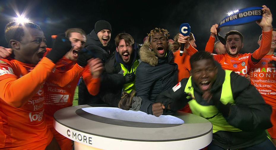 TV: Se AFC:s vilda firande - stormar C More-studion