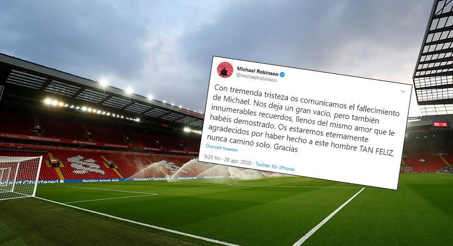 Engelsk fotboll har sorg - tidigare Liverpool-spelare avliden