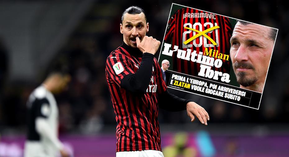 Italienska tidningen: Zlatan siktar på comeback och Europa League - sedan Hammarby