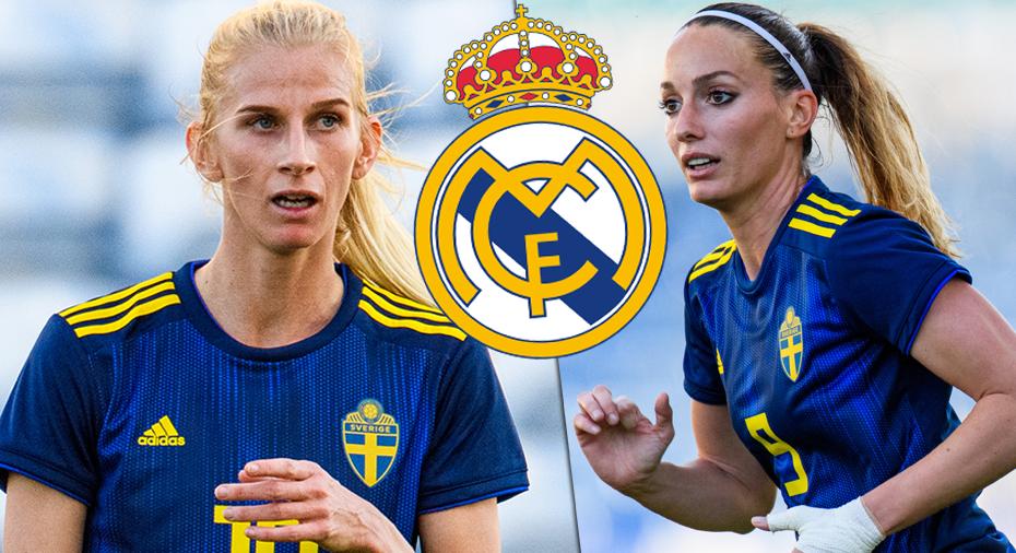 Asllani och Jakobsson tränar på Real Madrids anläggning och får snart dra på sig tröjan - så vill de göra Real till ett ...