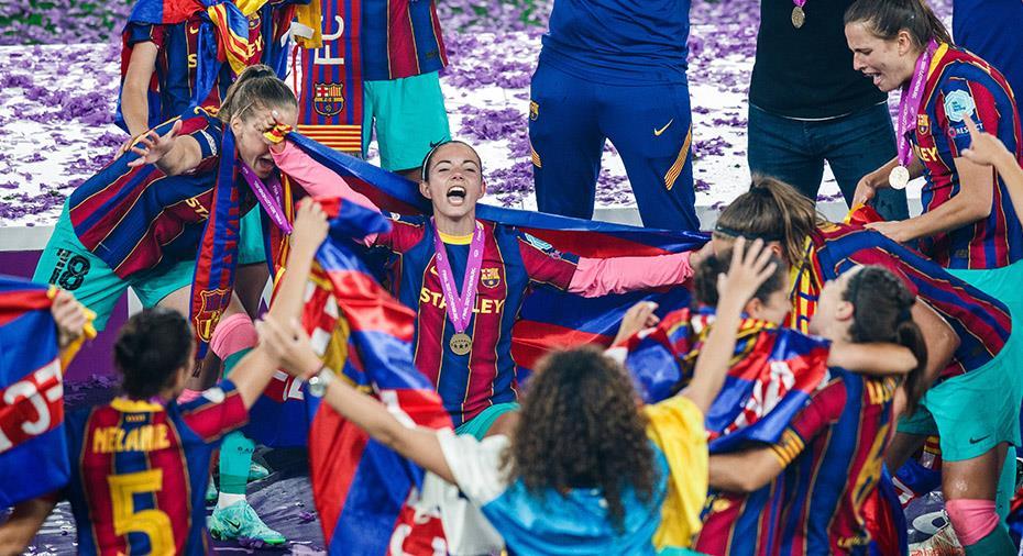 """Barça först någonsin att vinna Champions League på dam- och herrsidan: """"Vi har skrivit historia"""""""