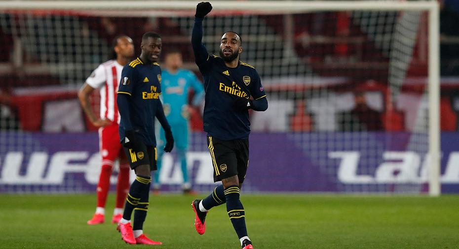 Lacazette sänkte Olympiakos - fördel Arsenal inför returen
