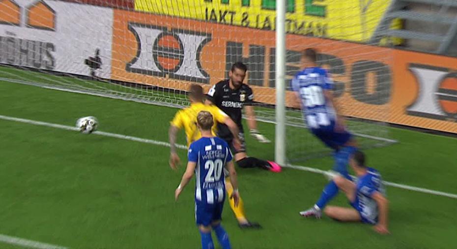 TV: JUST NU: Dunderchans för Elfsborg - bollen dansar på mållinjen