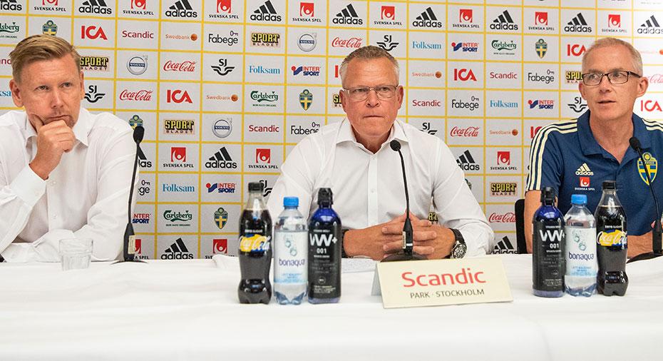 TV: Se hela måndagens presskonferens med Janne Andersson