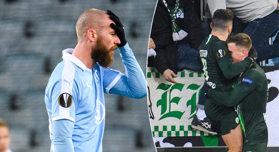 Malmö utklassat och utslaget av Wolfsburg efter omdiskuterat VAR-mål