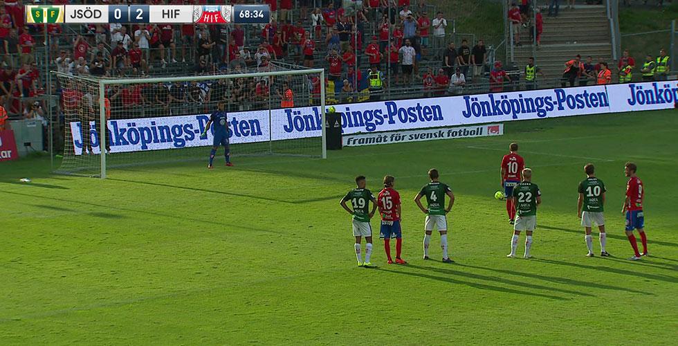 TV: JUST NU: Bojanic sätter dit 3-0 från straffpunkten för HIF