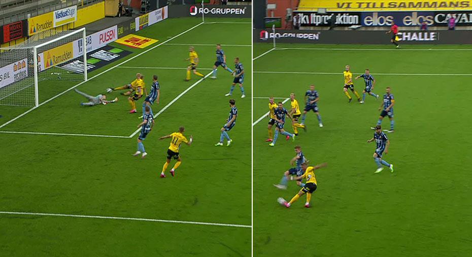 JUST NU: Elfsborgs Frick på rätt sida - men målet blir bortdömt