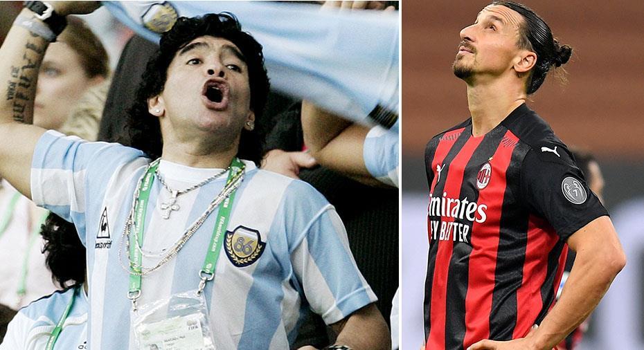 """Zlatans hyllning till Maradona: """"Han kommer att leva för evigt och för alltid"""""""