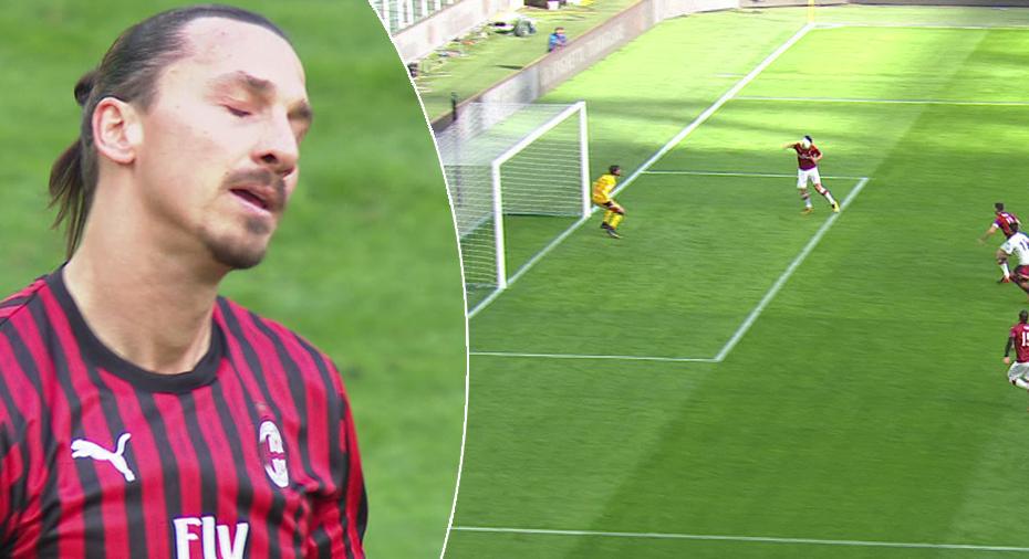 TV: JUST NU: Zlatan bränner jätteläge från nära håll - Milan i underläge
