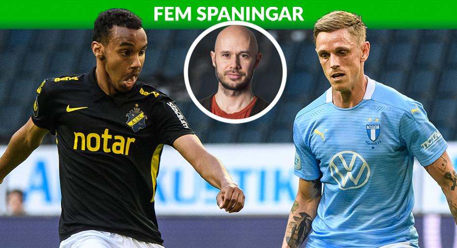 "FEM SPANINGAR: ""Unga, orutinerade AIK skakade om tunga MFF"""