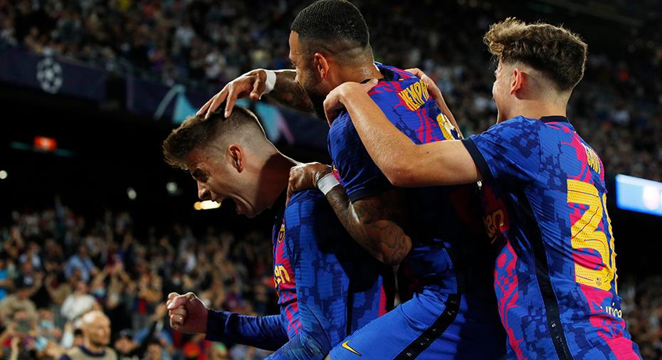 Barcelona vann måstematchen - efter Pique gjort lagets första CL-mål sedan december 2020