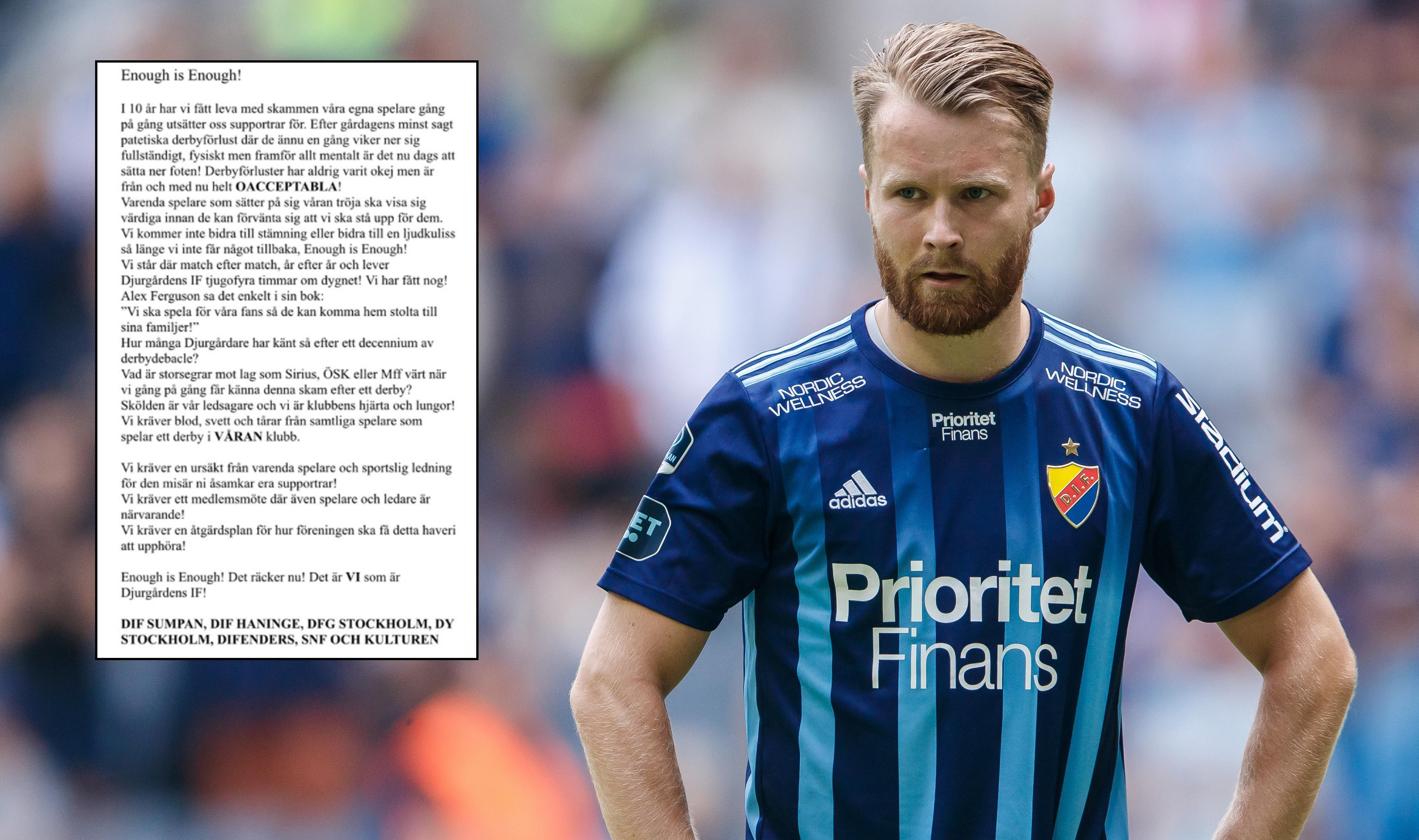 """Une Larsson om derbypressen: """"Vi måste kunna brösta kritik"""""""