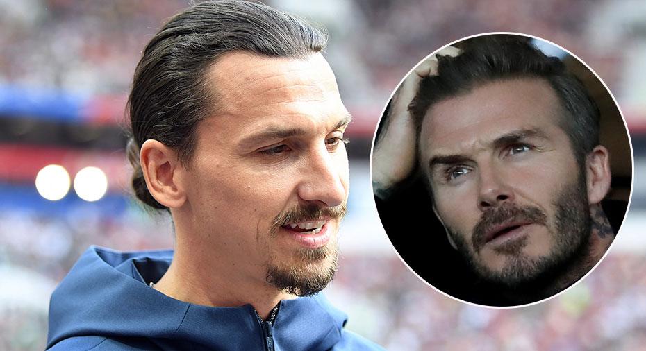 """Zlatan efter vadet med Beckham: """"Kommer åka till Wembley och äta fish and chips"""""""