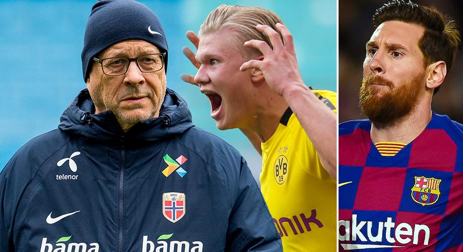 """Lagerbäck jämför Haaland med Messi: """"Unikt"""""""