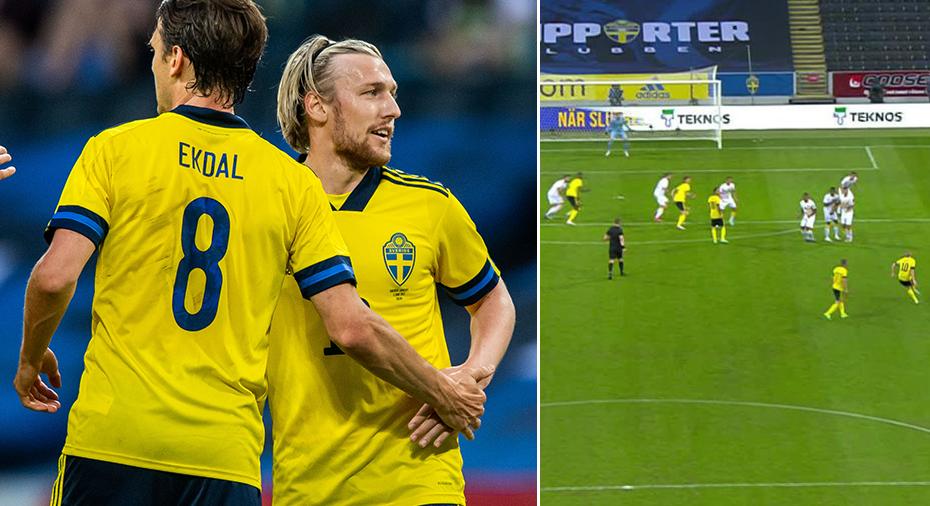 """TV: Forsberg spräckte nollan på frispark: """"Kraftig målvaktstavla"""""""