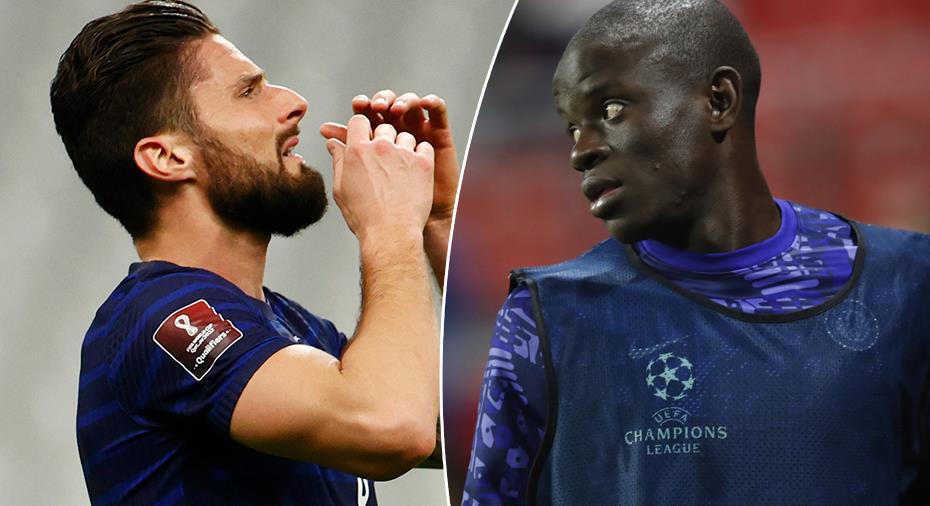 "Giroud om gliringarna till Kanté: ""Det stressar honom"""