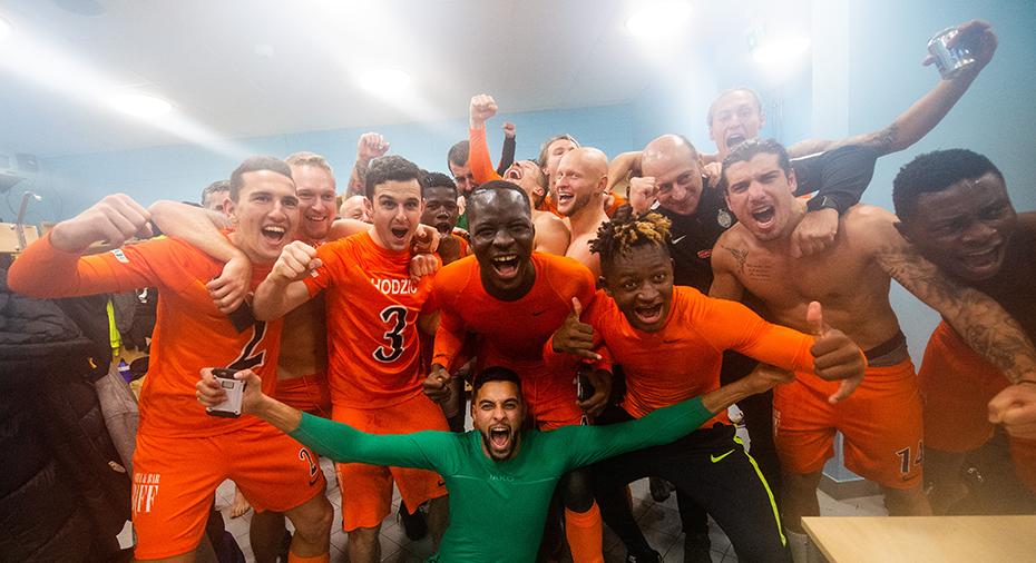 """AFC firade allsvenska platsen - med att kalla sig själva """"Fotbollsmördare"""""""