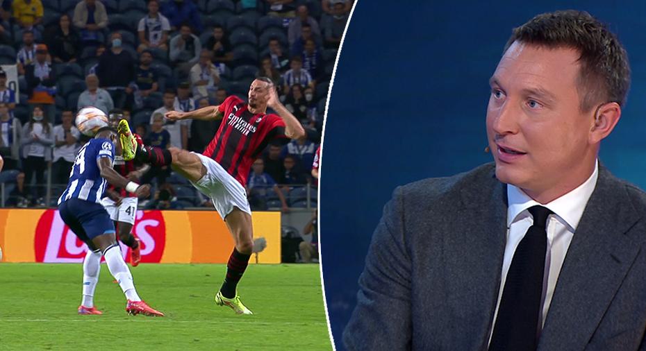 """TV: Ibrahimovic klarade sig från rött kort - trots huvudspark: """"Riktigt gränsfall"""""""