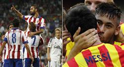 Atlético Madrid och Barcelona.