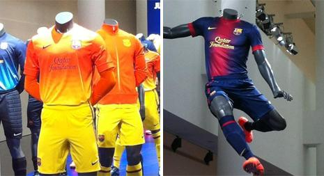 Barcelonas matchkläder. Foto: Scanpix